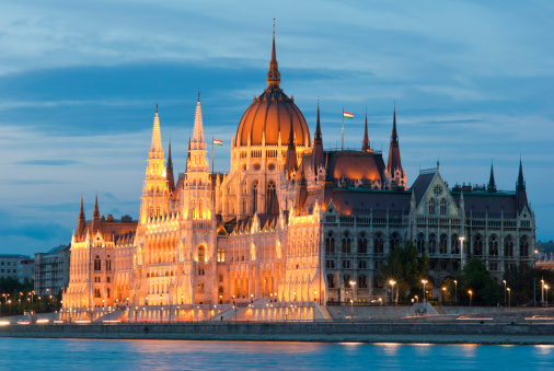 Hungarian government house at banks of Danube